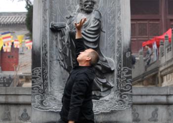 Sifu George practising Lohan Qigong In China image