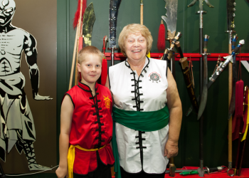 Grandmother and Grandson Training At The Academy  image