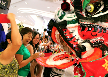 Our Lion Dance Troupe Love Interacting With the Crowd  image