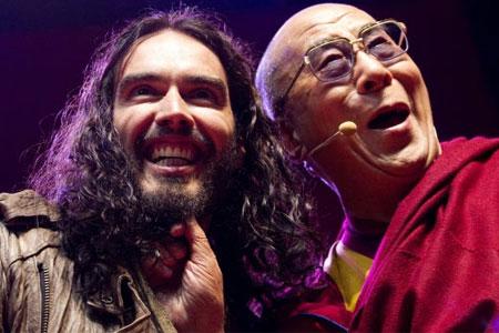 Russell-Brand-with-Dalai-Lama