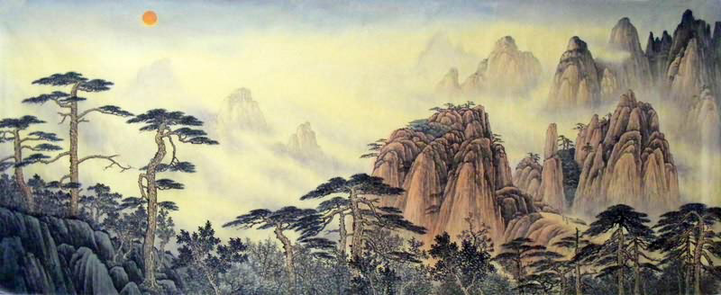 Image result for chinese mountains huangshan